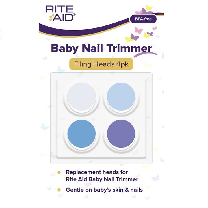 Rite Aid Baby Nail Trimmer Filing Heads X 4