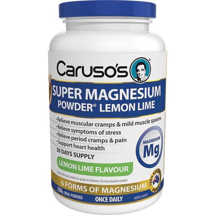 Caruso's Super Magnesium Powder (Lemon Lime) 250g