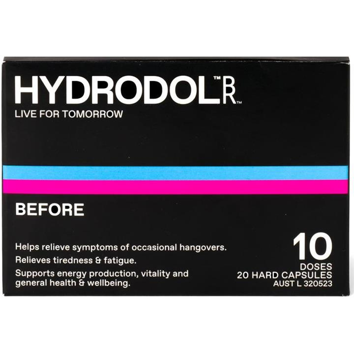Hydrodol Before Cap X 20 (10 Doses)