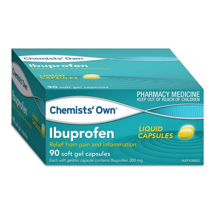 Chemists' Own Ibuprofen 200mg Liquid Cap X 90