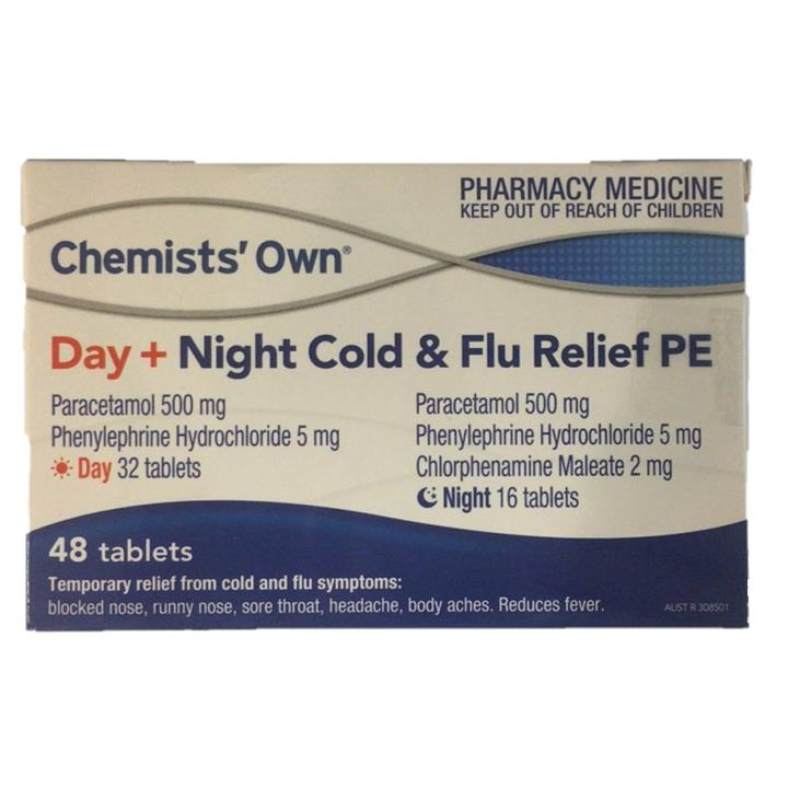 Chemists' Own Cold & Flu Relief Day + Night PE Tab X 48