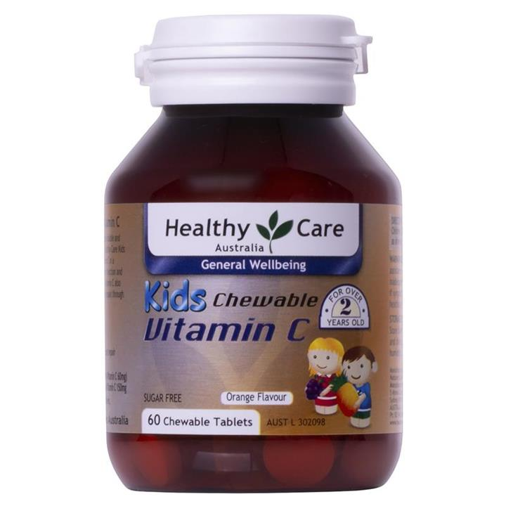 Healthy Care Kids Vitamin C Chewable Tab X 60