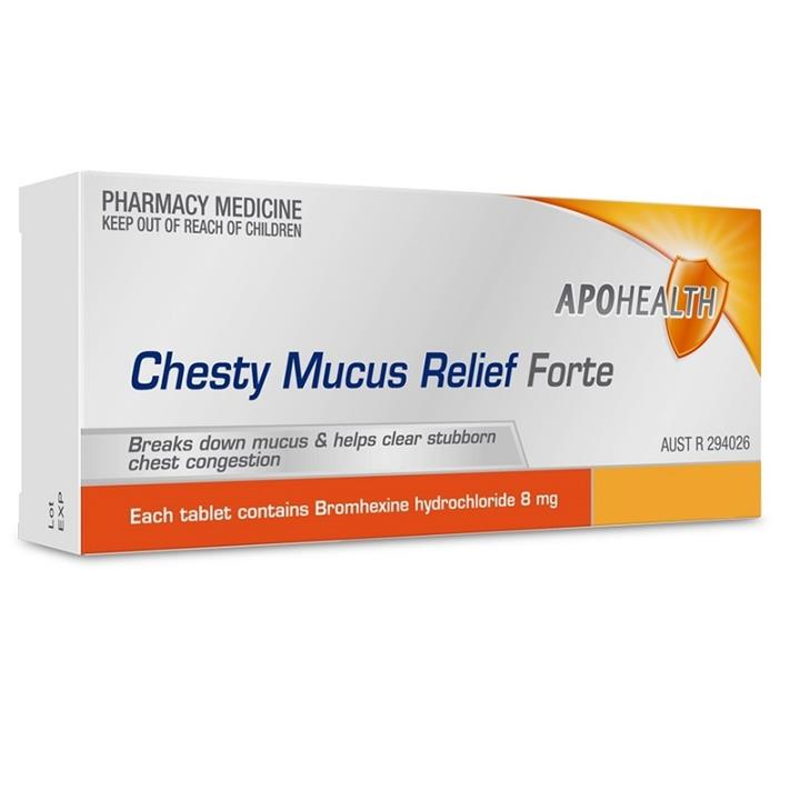 ApoHealth Chesty Mucus Relief Forte Tab X 100 (Limit 1 per order)