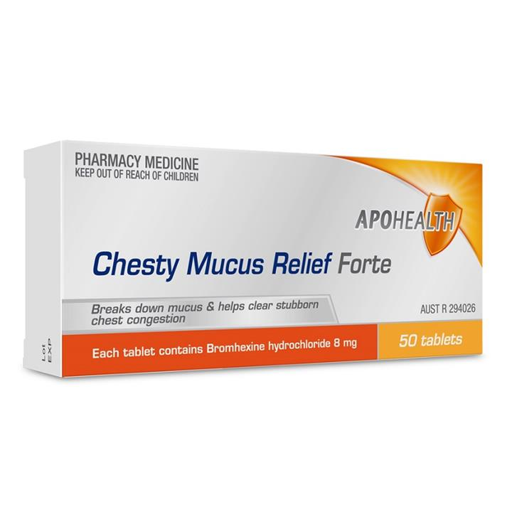 ApoHealth Chesty Mucus Relief Forte Tab X 50 (Limit 1 per order)
