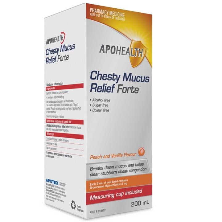 ApoHealth Chesty Mucus Relief Forte 200ml (Limit 1 per order)