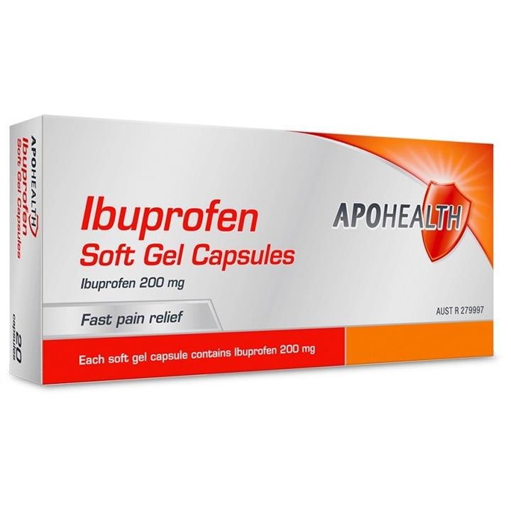 ApoHealth Ibuprofen 200mg Soft Gel Cap X 40