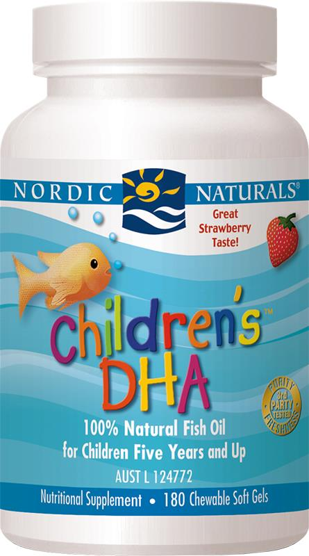 Nordic Naturals Children's DHA Strawberry Soft Gels X 180