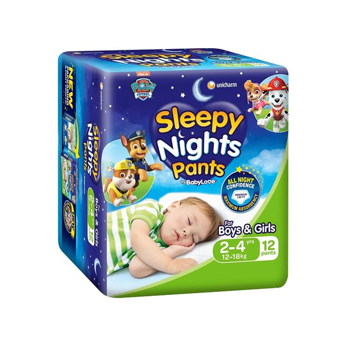 BabyLove Sleepy Nights Pants 2 to 4 Years (12 to 18kg) X 12 (Limit 2 per order)