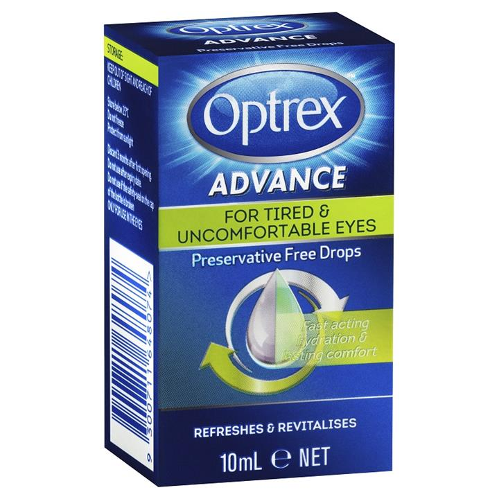 Optrex Advance for Tired & Uncomfortable Eyes Preservative Free Drops 10ml