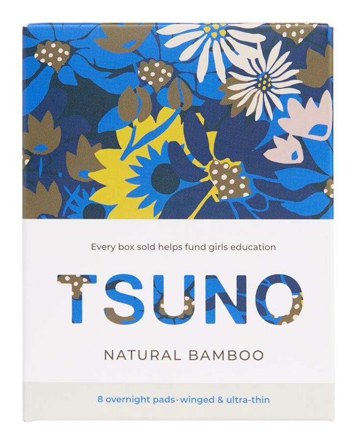 Tsuno Pads Natural Bamboo Overnight X 8