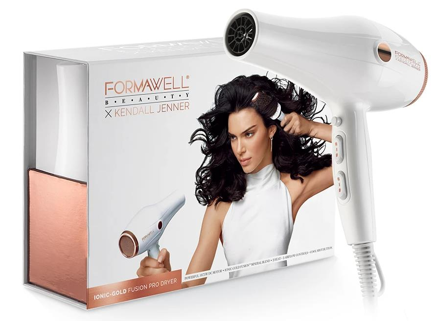 Formawell Beauty X Kendall Jenner Ionic-Gold Fusion Pro Dryer White