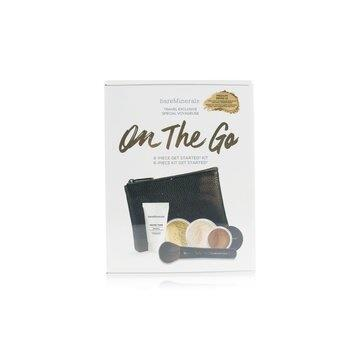 BareMinerals On The Go 6 Piece Get Started Kit (1x Primer, 1x Foundation 1x Mineral Veil, 1x All Over Face Color…) – # Medium Beige 12 5pcs+1clutch Make Up