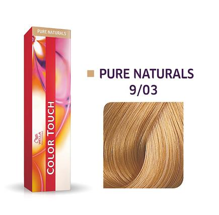 Wella Professionals Color Touch Demi-Permanent Hair Colour 60ml 9/03 Very Light Blonde/Natural