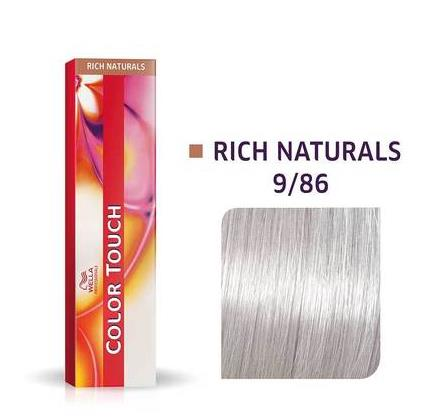 Wella Professionals Color Touch Demi-Permanent Hair Colour 60ml 9/86 Very Light Blonde/Pearl Violet