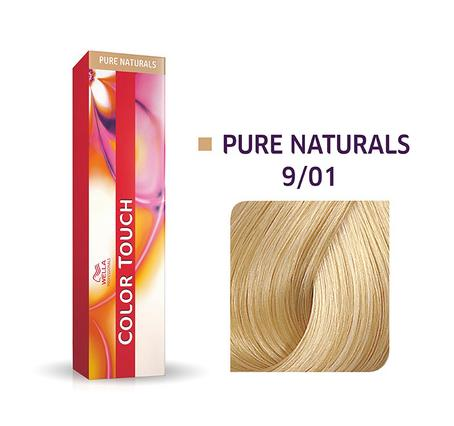 Wella Professionals Color Touch Demi-Permanent Hair Colour 60ml 9/01 Very Light Blonde/Natural Ash