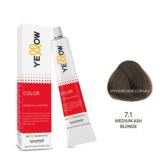 Yellow by Alfaparf Group – Permanent Hair Colour (100ml) 7.1