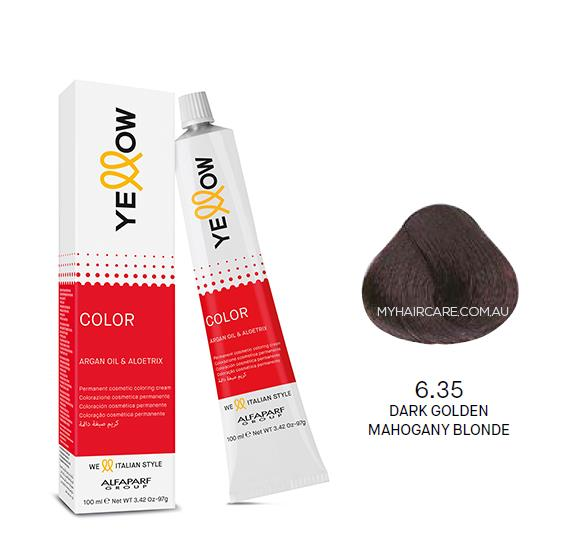 Yellow by Alfaparf Group – Permanent Hair Colour (100ml) 6.35