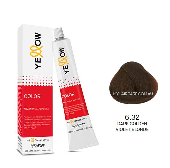 Yellow by Alfaparf Group – Permanent Hair Colour (100ml) 6.32