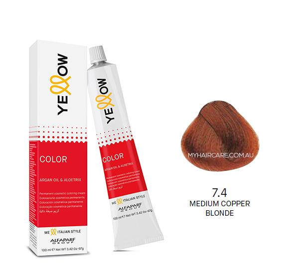 Yellow by Alfaparf Group – Permanent Hair Colour (100ml) 7.4