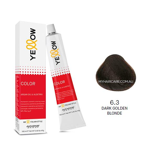 Yellow by Alfaparf Group – Permanent Hair Colour (100ml) 6.3