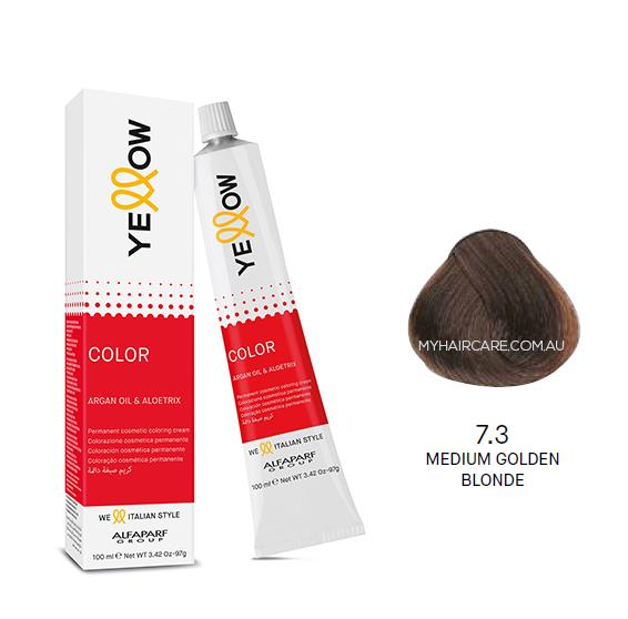 Yellow by Alfaparf Group – Permanent Hair Colour (100ml) 7.3