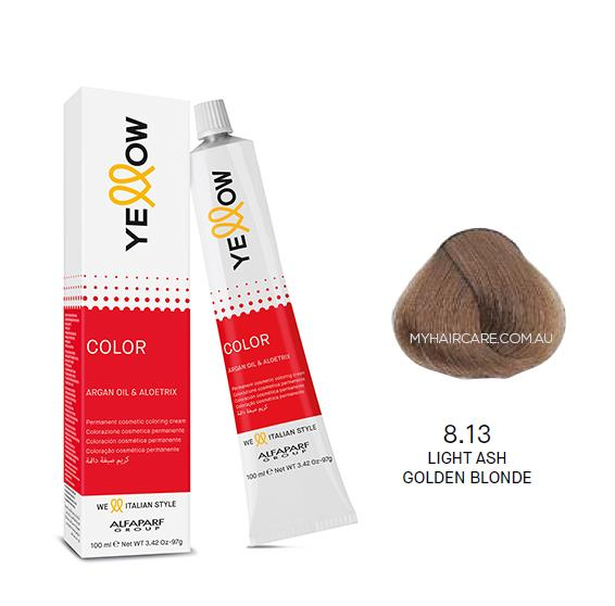 Yellow by Alfaparf Group – Permanent Hair Colour (100ml) 8.13