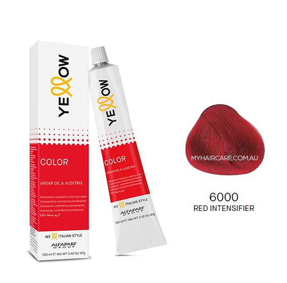 Yellow by Alfaparf Group – Permanent Hair Colour (100ml) 6000 Red Intensifier
