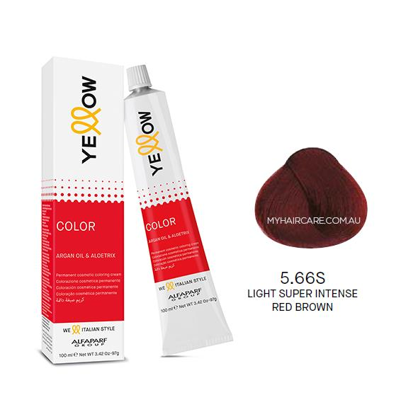 Yellow by Alfaparf Group – Permanent Hair Colour (100ml) 5.66S