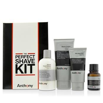 Anthony Logistics For Men The Perfect Shave Kit: Cleanser + Pre-Shave Oil + Shave Cream + After Shave Cream 4pcs Men's Skincare