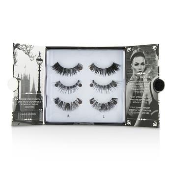 Eylure The London Edit False Lashes Multipack – # 121, # 117, # 154 (Adhesive Included) 3pairs Make Up
