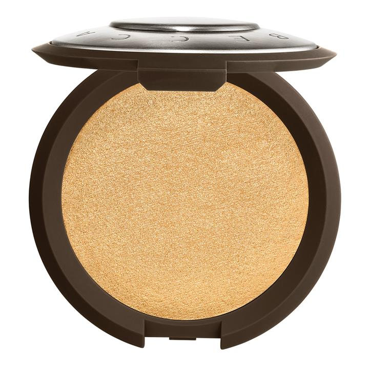 BECCA Cosmetics Shimmering Skin Perfector Pressed Highlighter Prosecco Pop (true, ethereal gold with rich bronze pearl)