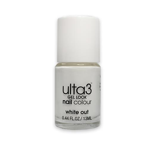 Ulta3 Gel Look Nail Colour White Out 13ml