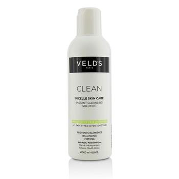 Veld's Clean Micelle Skin Care Instant Cleansing Solution – All Skin Types (Even Sensitive) 200ml/6.8oz Skincare