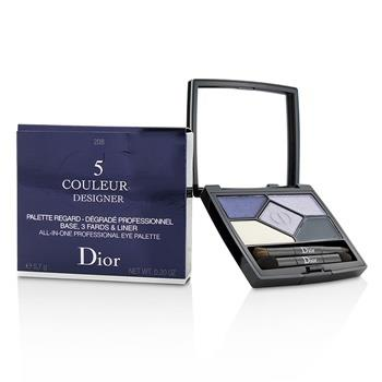Christian Dior 5 Color Designer All In One Professional Eye Palette – No. 208 Navy Design 5.7g/0.2oz Make Up