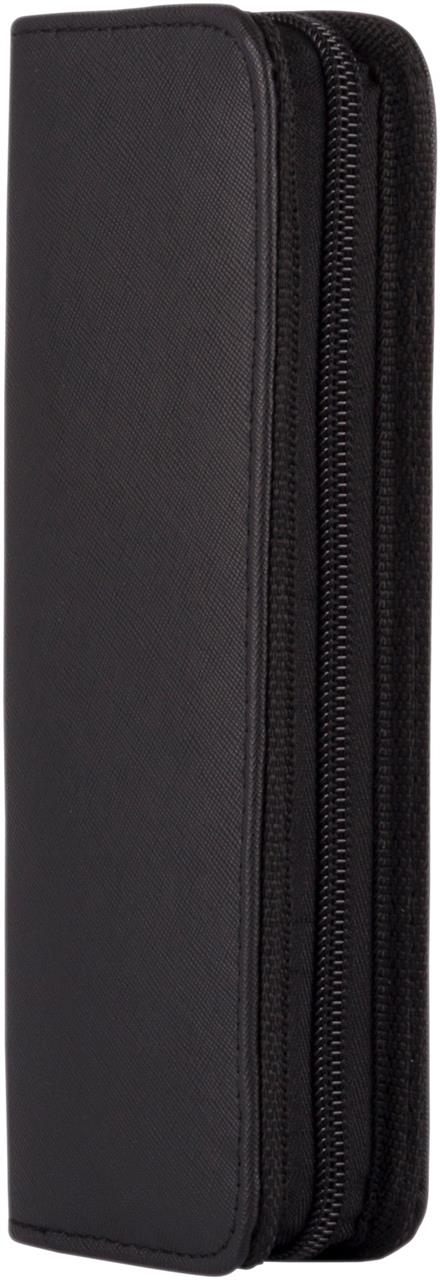 Scissor Case Black textured finish – clip in protection with zipper