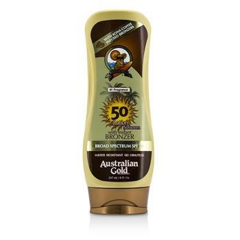Australian Gold Lotion Sunscreen Broad Spectrum SPF 50 with Instant Bronzer 237ml/8oz Skincare