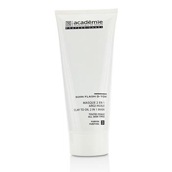 Academie Clay To Oil 2 in 1 Mask – For All Skin Types (Salon Size) 200ml/6.7oz Skincare