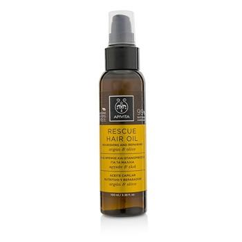 Apivita Rescue Hair Oil with Argan & Olive (For All Hair Types) 100ml/3.38oz Hair Care