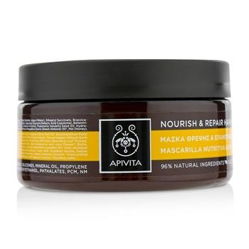 Apivita Nourish & Repair Hair Mask with Olive & Honey (For Dry-Damaged Hair) 200ml/6.81oz Hair Care