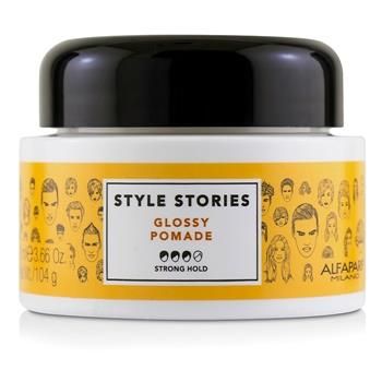 AlfaParf Style Stories Glossy Pomade (Strong Hold) 100ml/3.66oz Hair Care
