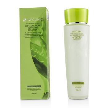 3W Clinic Aloe Full Water Activating Emulsion – For Dry to Normal Skin Types 150ml/5oz Skincare