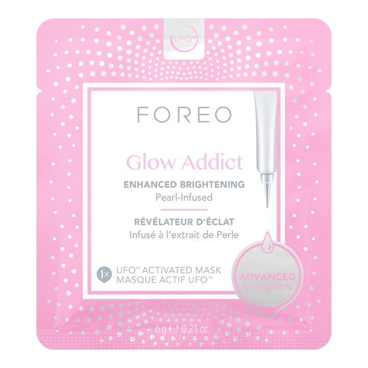 Foreo Glow Addict Enhanced Brightening Pearl-Infused UFO Activated Mask 6 Masks