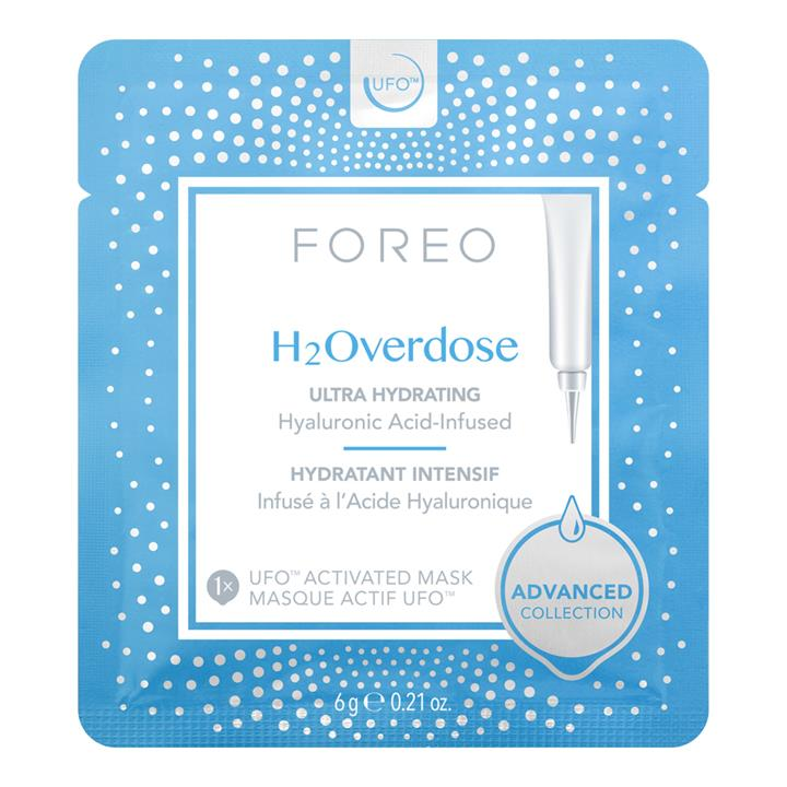 Foreo H2Overdose Ultra Hydrating Hyaluronic Acid-Infused UFO Activated Mask 6 Masks
