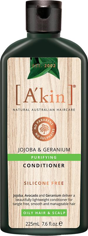 A'kin Conditioner For Oily Hair & Scalp Jojoba & Geranium 225ml
