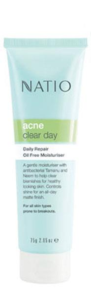 Natio Acne Clear & Protect Daily Protection SPF15 Oil Free Moisturiser 75g