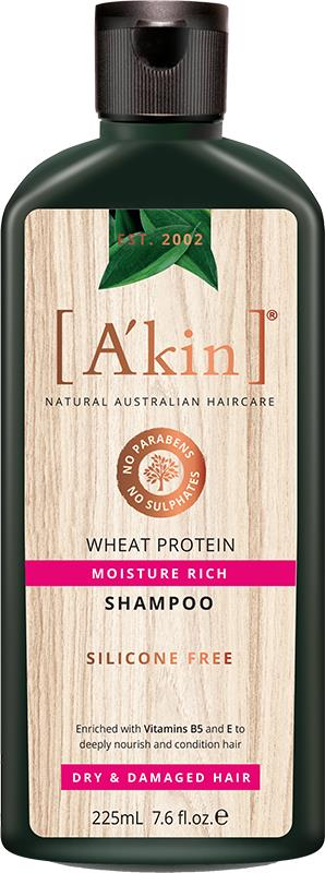 A'kin Shampoo For Dry & Damaged Hair Wheat Protein 225ml
