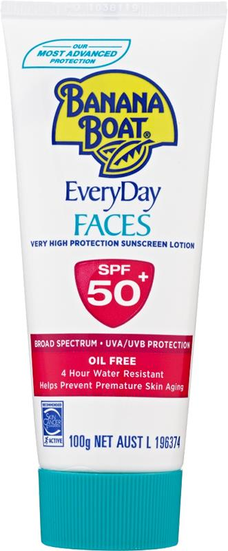 Banana Boat Sunscreen Lotion Faces SPF 50+ 100g