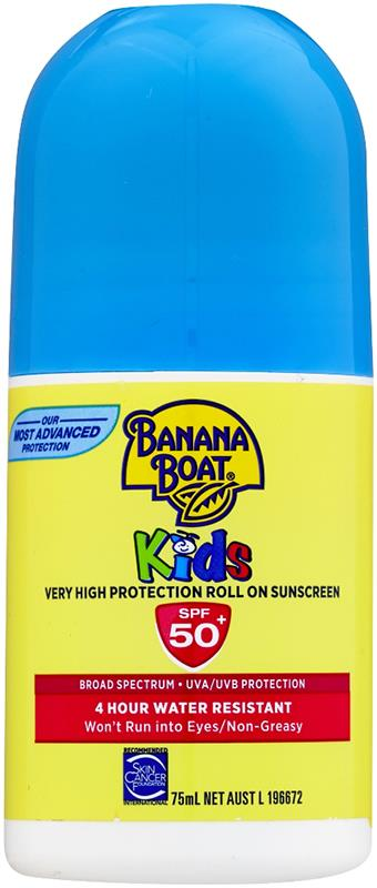 Banana Boat Sunscreen Roll On Kids SPF 50+ 75ml