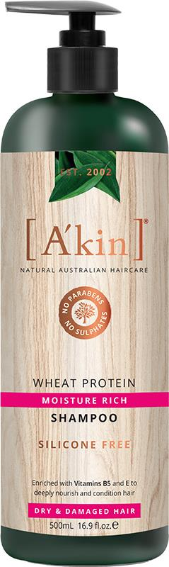 A'kin Shampoo For Dry & Damaged Hair Wheat Protein 500ml