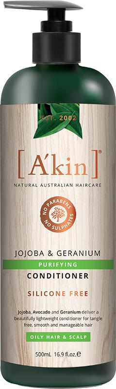 A'kin Conditioner For Oily Hair & Scalp Jojoba & Geranium 500ml